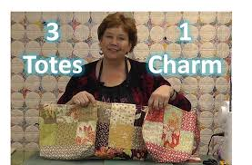 Make Three Totes / Purses With One Charm Pack! Video tutorial by ... & Jenny Doan demonstrates how nifty charm packs are by making three  totes/purses out of a single charm pack! Adamdwight.com