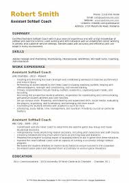 Assistant Coach Resume Samples Assistant Softball Coach Resume Samples Qwikresume