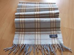 Burberry Light Blue Authentic Burberry Light Blue Checked Scarf Wool And