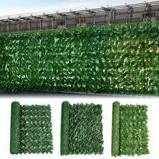 fake grass fence artificial green