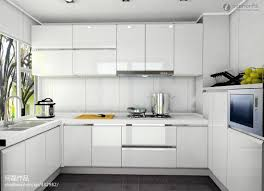 modern white kitchen cabinets with pretty paint ideas red