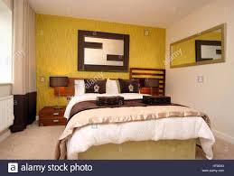 Wohngebäude Schlafzimmer Wand Funktion Grün Gelb Spiegel