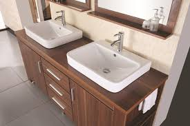 bathroom sink with vanity. Design Element Washington Double Drop-In Vessel Sink Vanity Set With Three Drawers And Toffee Bathroom