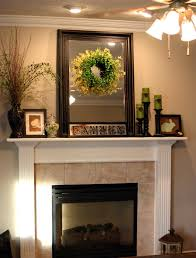 fireplace mantel decorating idea furnished with gl candle holder