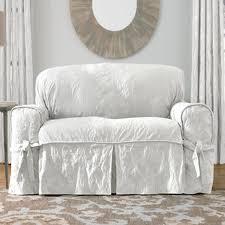 white sofa and loveseat. Amazon.com: Sure Fit Matelasse Damask 1-Pc Loveseat-White: Home \u0026 Kitchen White Sofa And Loveseat