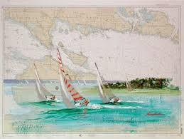 Paintings On Nautical Charts How To Get Free Nautical Charts Crafts And Projects