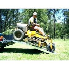 Riding Lawn Mower Ramps For Trucks Garden Tractor Truck Gallery ...