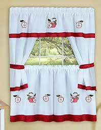 apple kitchen curtains. red and white curtains with apple print kitchen t