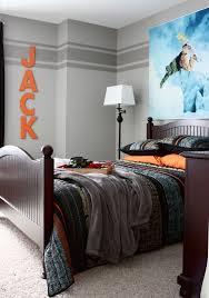 Wand Streichen Ideen Jugendzimmer Graue Wandfarbe Streifen