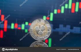 Ripple Stock Price Chart Ripple Xrp Cryptocurrency Investing Concept Physical Metal