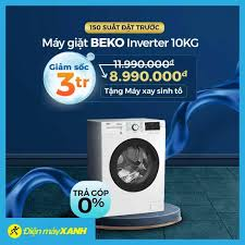 Điện Máy Thái Nguyên - 🔥 Máy giặt BEKO Inverter lồng ngang 10Kg DUY NHẤT  150 SUẤT ĐẶT TRƯỚC GIẢM NGAY 3 TRIỆU 🎉 Giá chỉ còn: 8.990.000đ 🌀 Tặng  thêm máy