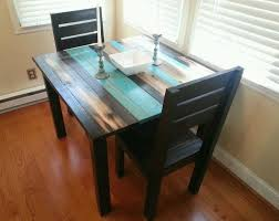 distressed dining table and chairs