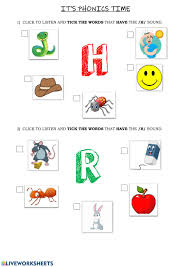 A collection of english esl worksheets for home learning, online practice, distance learning and english classes to teach about jolly, phonics, jolly phonics. Phonics Group 2 H R Worksheet