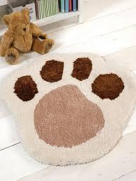 childrens nursery rug paw