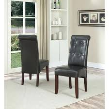 leather parson dining chairs dining chair slipcovers dining room end chairs beige leather dining chairs dining faux leather parsons dining chair set of 2