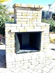 modular outdoor fireplace refractory kit