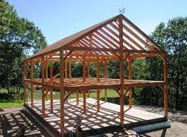 post and beam construction building