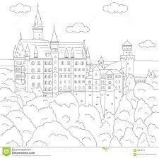 Castello Di Neuschwanstein Libro Da Colorare Per I Bambini