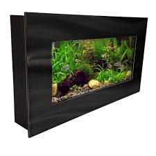 Wall Mounted Fish Tank Light Aussie Aquarium Aa Miniview Bblack 2 0 Wall Mounted Aquarium Brushed Black