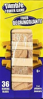 How To Play Tumbling Tower Wooden Block Game Amazon Tumble Tower Stacking Wood Block Game 100100 Inches Tall 22