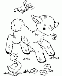 Small Picture Coloring Pages Of Spring Animals Coloring Pages
