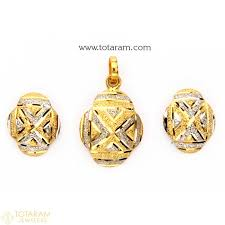 22k gold pendant earring sets indian