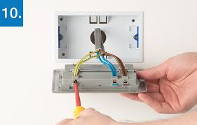 how to upgrade 2 gang socket bg electrical accessories make sure that the wires are fully inserted into the terminal and that no bare copper wire is visible tighten the screws securely onto the copper wire