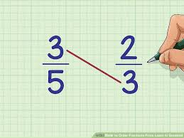 Fractions From Least To Greatest Chart 3 Ways To Order Fractions From Least To Greatest Wikihow