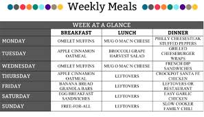 online meal calendar weekly meal plan round 1 organizedchaosonline
