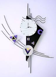 Small Picture This contemporary metal wall clock sculpture is a great design