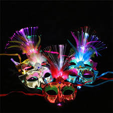 HOT <b>New Women</b> Lady Girl <b>Venetian</b> LED Fiber Mask Masquerade ...