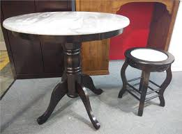 kopitiam classic antique marble coffee table c w 4 chair free delivery
