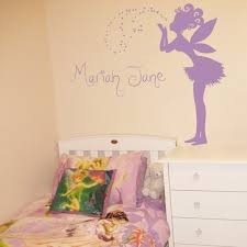 magical fairy making a wish personalized monograms names wall decals