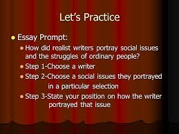 the thesis statement ppt  let s practice essay prompt