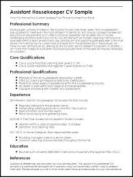 How To Write A Resume For Housekeeping Job Fields Related To