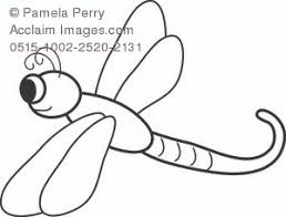 Small Picture Cartoon Dragonfly Coloring Page Royalty Free Clip Art Image