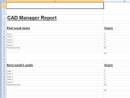Spreadsheet Template For Weekly Cad Manager Reports Cadalyst