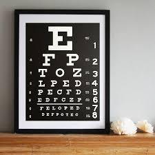 Eye Chart Art Print Poster