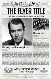 Newspaper Template Illustrator Photoshop Newspaper Template
