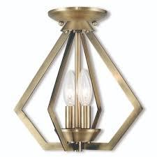 livex lighting 40922 01 2 light ab mini chandelier ceiling mount prism