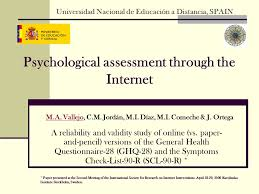 Psychological Assessment Through The Internet A Reliability