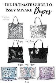 Japanese Designer Bag Geometric The Complete Guide To Issey Miyake Bao Bao Look Alike Bags