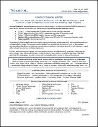 This Technical Writer Resume Example Illustrates Many Best Practices