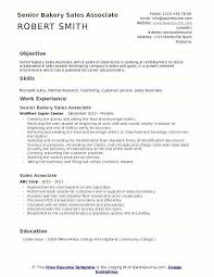 Baking Career Information Senior Bakery Sales Associate Resume ...
