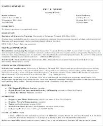 Sample Rn Resume Gorgeous Sample Rn Resume Objective Resume Objective Examples Free Resume
