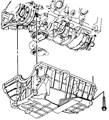 8 exploded view of the oil pan mounting 1996 4 3l engines