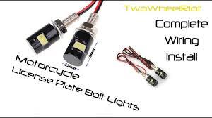 Bolt Beam 12mm Led Light How To Install License Plate Bolt Lights