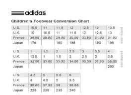 Adidas Infant Shoe Size Chart Cm