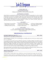Sample Lpn Nursing Resume And Sample Registered Practical Nurse