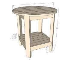 free end table plans patio end table plans free outdoor wood folding round tables great option